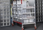 You can make a movable trolley with the scaffolding materials