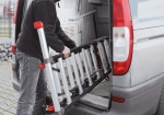 Thanks to the lightweight aluminium, the Mounter combination ladder is easy to move