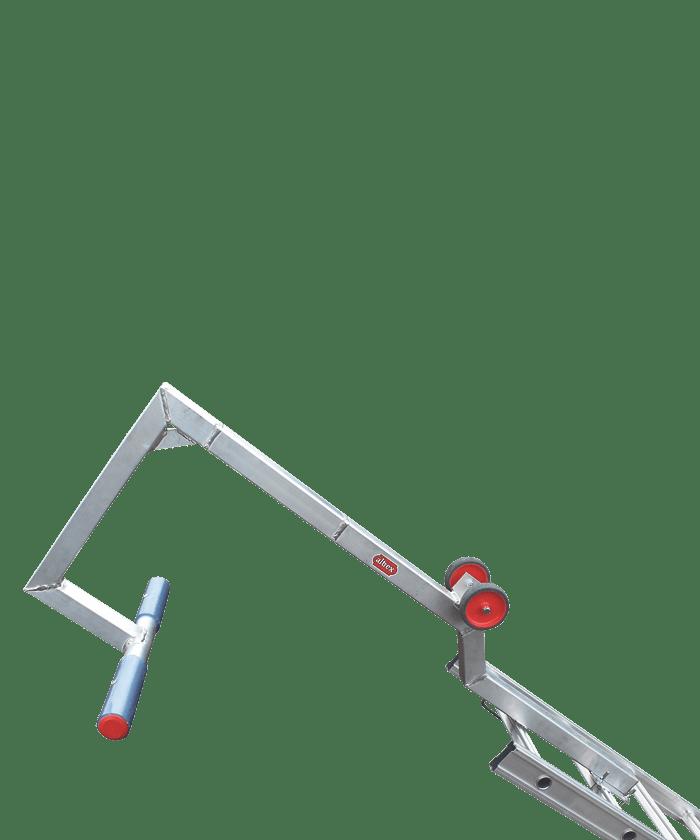 Ladder nokhaak voor veiliger werken op hellende daken altrex - Trap voor daken ...