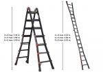Position the folding ladder in the desired position so that you can reach the height you need to complete your job.