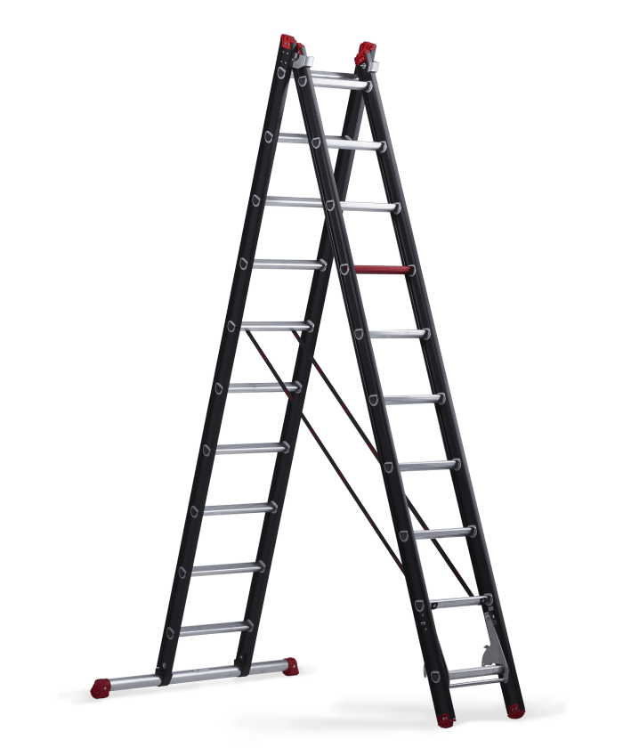 Mounter combination ladder 2x10 steps