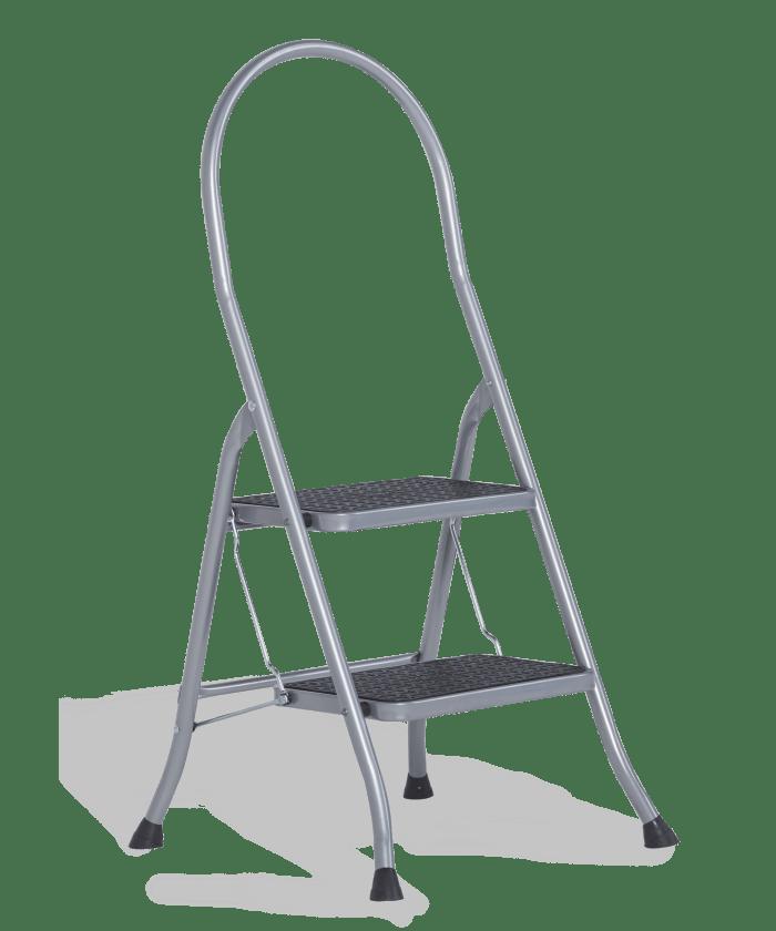 Super De Cromato Silver: oersterke huishoudtrap   Altrex QZ79