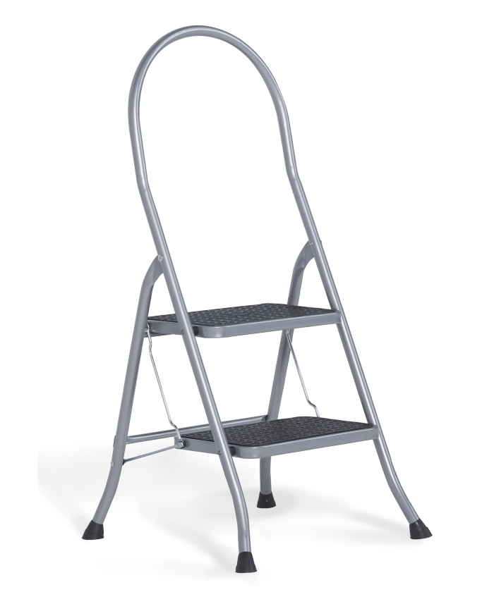 Cromato Silver household stepladder 2 steps