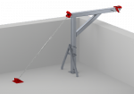 Altrex Davit Arm: suspension point for suspended platforms