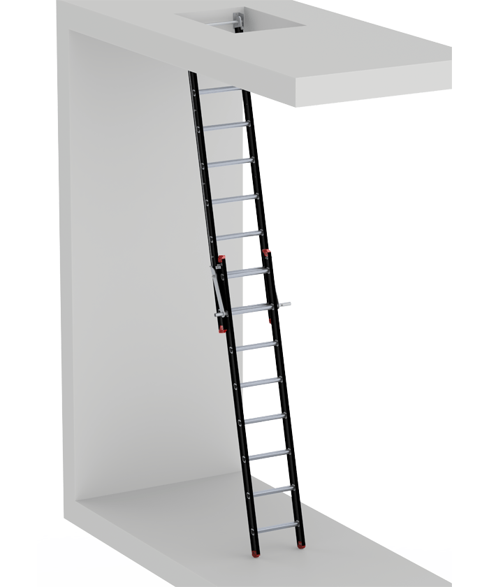 Mounter elevator machine room ladder