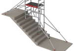 MiTOWER STAIRS the ideal scaffold to move into a narrow stairwell