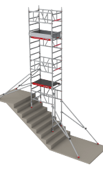 MiTOWER STAIRS compact scaffold in a stairwell