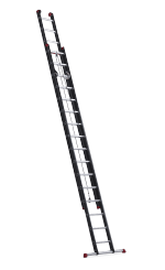 Mounter rope-operated. Extending top ladder for professionals2x16 schuifladder