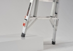 Multifunctional and telescopic folding ladder