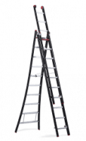 Nevada combination ladder. Ergonomic box-profiled ladder for professionals