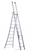 Rocky combination ladder. Aluminium box-profiled ladder for professionals