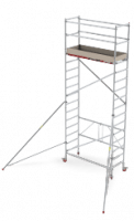 RS 44-POWER single width folding-/rolling tower. Compact rolling tower for narrow spaces