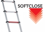 With the soft close system the telescopic ladder retracts gradually after unlocking. With this system your hands / fingers are optimal protected.