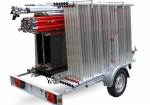 Transport your scaffolding safely with the Scaffold trailer Basic
