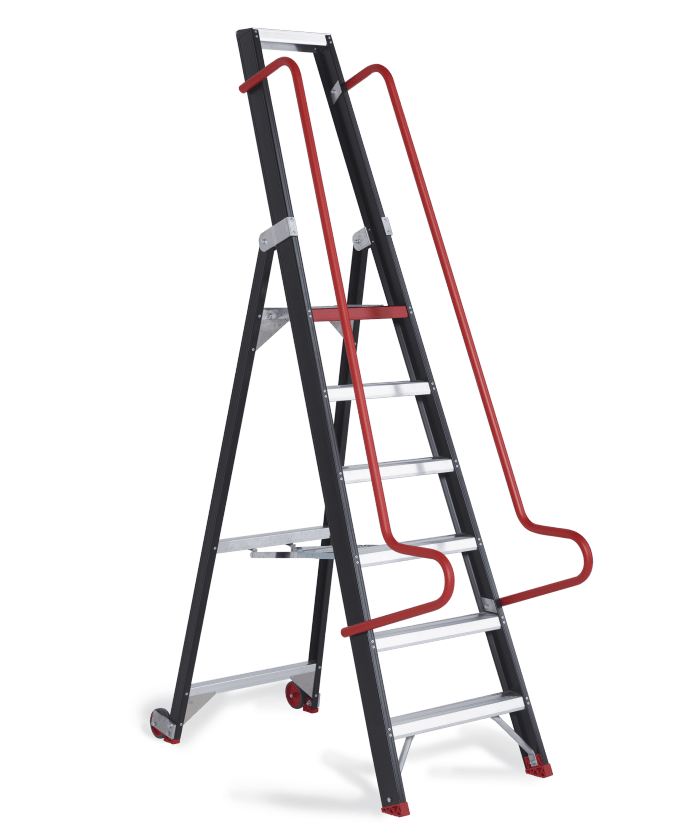 Taurus (TME) - Warehouse stepladder. Robust stepladder for the warehouse