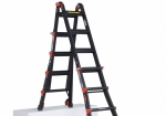The Black Pro folding ladder can easily be changed to another position