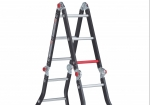 The Varitrex Prof folding ladder can easily be changed to another position