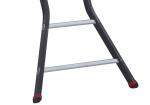 Bended beams and anti-slip feet provide the folding ladder with guaranteed stability and security.