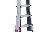 The folding ladder is compact and easy to store