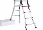 Each foot of the folding ladder can be adjusted independently. Up to 25cm.