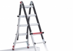 A-stand of ladderstand Telescopische Vouwladder