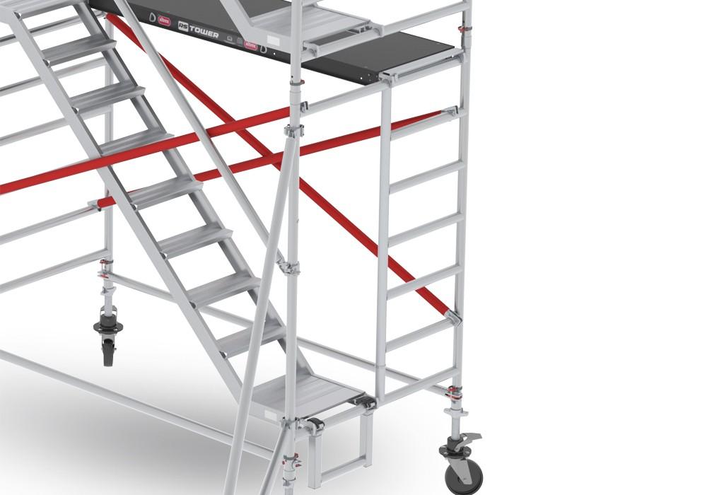 Andamio con escaleras rs tower 53 altrex for Escalera aluminio plegable easy