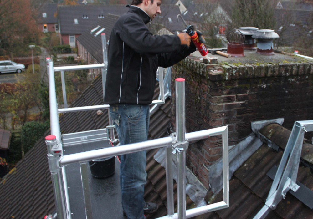 The Altrex Chimney Scaffold Work Safely On Chimneys