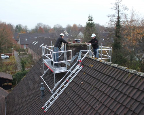 The Chimney scaffold can be used on both sides.