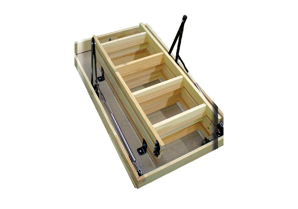 die woodytrex budget eine komplett ausgef hrte bodentreppe altrex. Black Bedroom Furniture Sets. Home Design Ideas