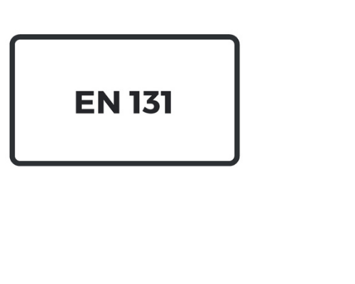 EN 131 is the European norm for ladders, folding ladders and stepladders.