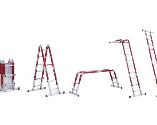 The Varitrex Plus folding ladder can easily be changed to another position