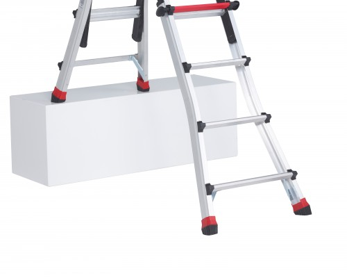 The Varitrex Teleprof folding ladder can easily be changed to another position