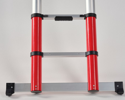 Working safely telescopic ladder