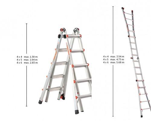 Plaats de vouwladder in de gewenste stand en bereik daarmee de hoogte die jouw klus nodig heeft.